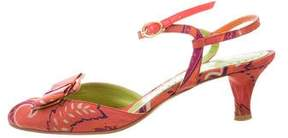 Etro Printed Ankle Strap Sandals