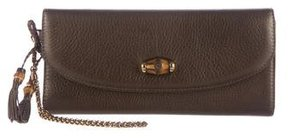 Gucci Bamboo Night Evening Bag - BROWN - STYLE