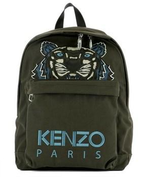 Kenzo Men's Green Fabric Backpack.