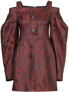 Ellery off-the-shoulder jacquard dress