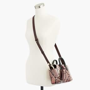 J.Crew Harper mini satchel in snake-embossed leather
