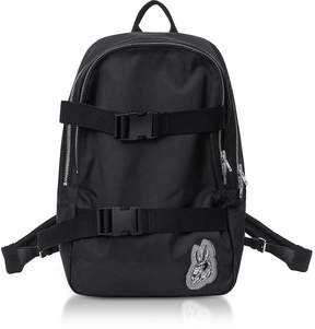 McQ Black Nylon Bunny Backpack