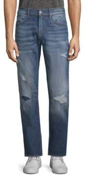 Hudson Distressed Straight Jeans