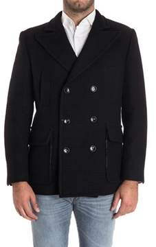Alessandro Dell'Acqua Men's Black Wool Coat.