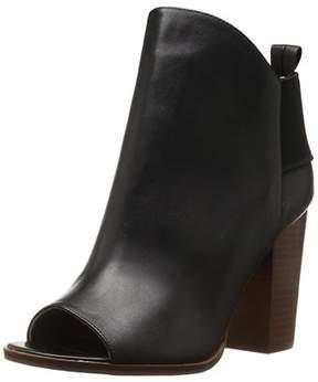 Kelsi Dagger Womens Gemma Leather Peep Toe Ankle Fashion Boots.