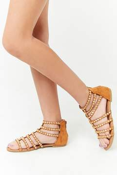 Forever 21 Girls Embellished Suede Gladiator Sandals (Kids)
