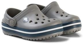 Crocs Grey and Navy Crocband