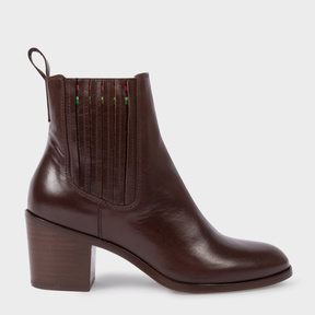 Paul Smith Women's Brown Calf Leather 'Shelby' Boots