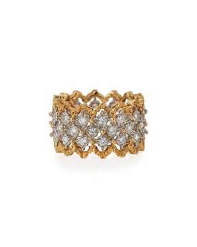 Buccellati Rombi 18K Gold Diamond Ring, 1.02 tdcw, Size 55