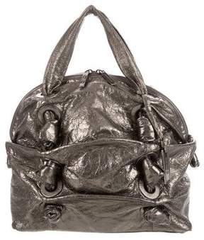 Michael Kors Metallic Knotted Handle Bag - GOLD - STYLE