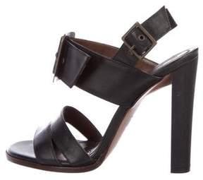 Marni Buckle-Embellished Leather Sandals