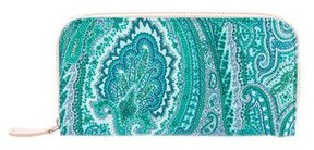 Etro Paisley Coated Canvas Wallet