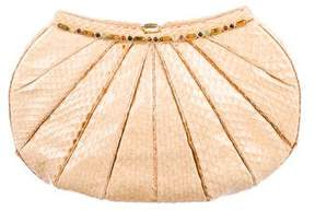 Judith Leiber Embellished Snakeskin Bag