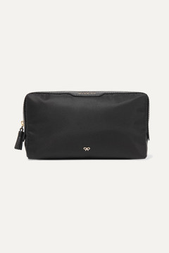 Anya Hindmarch Make Up Small Leather-trimmed Shell Cosmetics Case - Black