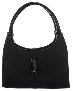 Gucci GG Canvas Jackie Tote - BLACK - STYLE