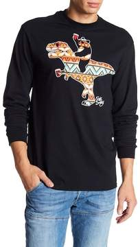 Riot Society Geometric T-Rex Long Sleeve Graphic Shirt