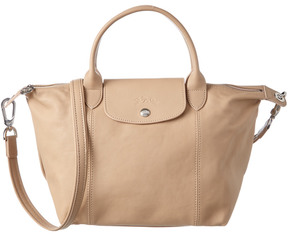 Longchamp Le Pliage Cuir Small Leather Top Handle Tote - BEIGE - STYLE