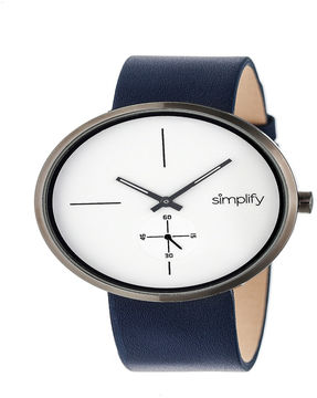 Simplify Unisex Blue Strap Watch-Sim4403