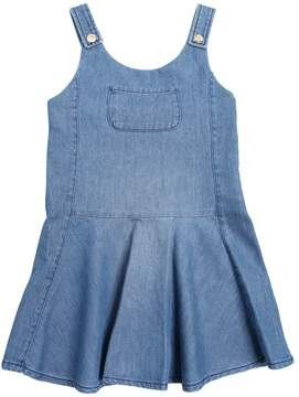 Chloé Stretch Light Denim Overall Dress