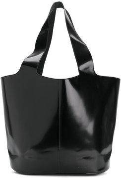 Jil Sander Navy varnished shopping bag