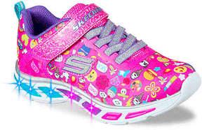 Skechers Girls Litebeams Feelin' It Emoji Toddler Sneaker