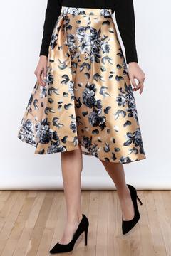Flying Tomato Champagne Floral Skirt
