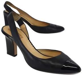 Reed Krakoff Black Leather Pointed Toe Slingbacks