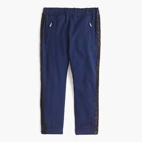 J.Crew Girls' sweatpants with glitter tux stripe