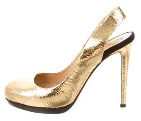 Reed Krakoff Metallic Slingback Pumps