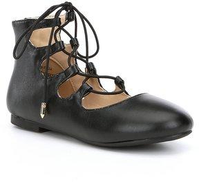 Sam Edelman Girls Felicia Stella Ghillie Ballet Flats