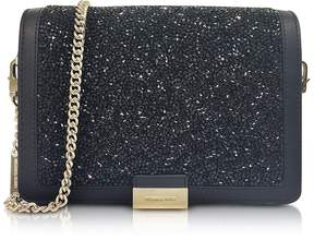 Michael Kors Jade Black Crystals and Leather Clutch - ONE COLOR - STYLE