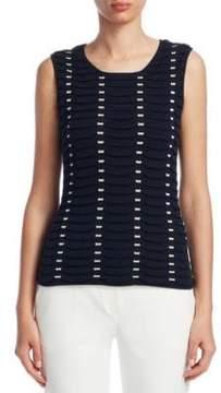 Emporio Armani Textured Silk & Cashmere Tank Top