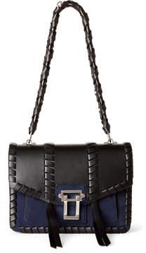 Proenza Schouler Black & Navy Hava Leather & Suede Chain Shoulder Bag