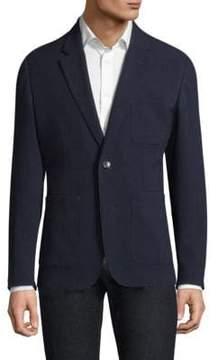 Michael Kors Seersucker Patterned Blazer