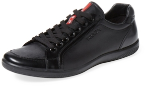Prada Men's Leather Low Top Sneaker