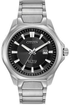 Citizen AW1540-88E Silver Titanium Men's Eco-Drive Sapphire Crystal Watch