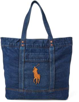 Polo Ralph Lauren Denim Big Pony Tote Bag