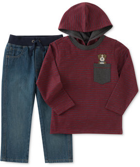 Kids Headquarters 2-Pc. Hooded Shirt & Jeans Set, Toddler Boys (2T-5T)