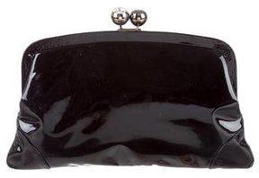 Emanuel Ungaro Patent Leather Framed Clutch