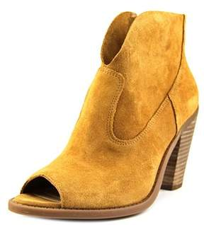 Jessica Simpson Chalotte Women Peep-toe Suede Brown Ankle Boot.