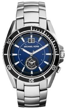 Michael Kors Jetmaster MK8400 Silver/Blue Analog Quartz Men's Watch