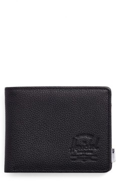 Herschel Men's Hershell Supply Co. Tile Roy Leather Wallet - Black