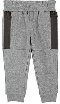 Stella McCartney KIDS' SPIKE COTTON FLEECE SWEATPANTS