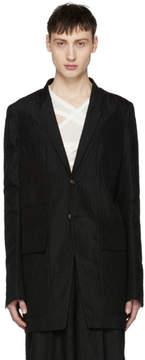 Rick Owens Black Two-Button Blazer