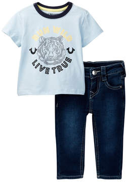 True Religion Wild Tiger Tee & Jean 2-Piece Set (Baby Boys)