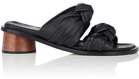 Helmut Lang Women's Knotted-Strap Leather Slide Sandals