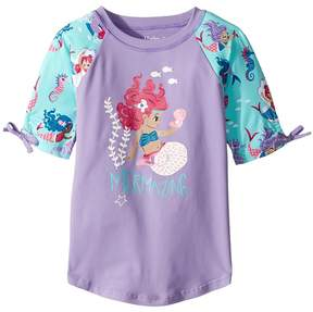 Hatley Underwater Kingdom Short Sleeve Rashguard Girl's Swimwear