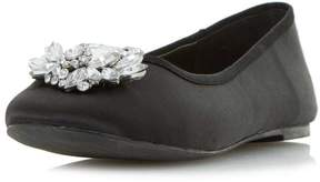 Head Over Heels *Head Over Heels by Dune Black 'Hiya' Flat Shoes