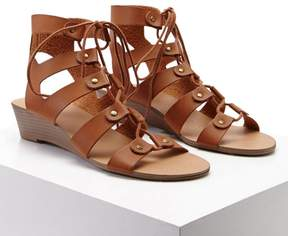 Forever 21 Leather Caged Wedges