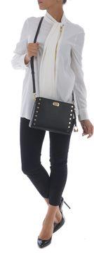 Michael Kors Lock Twist Studded Shoulder Bag - NERO - STYLE